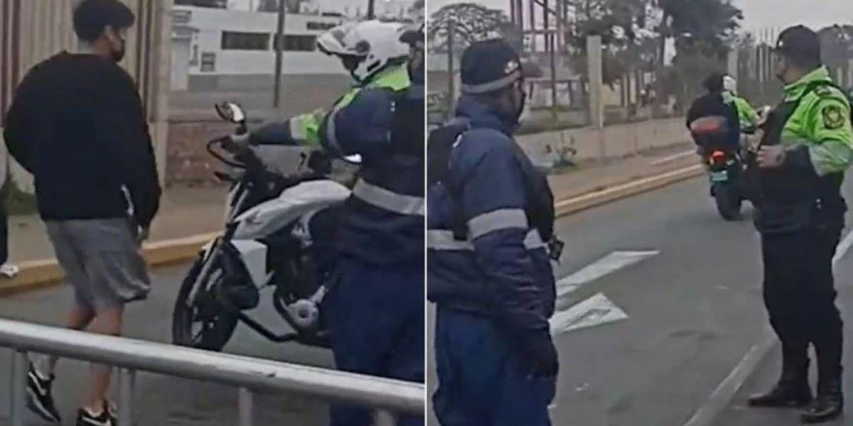 Video: un policía llevó a un chico en su moto para que llegar a tiempo a su examen