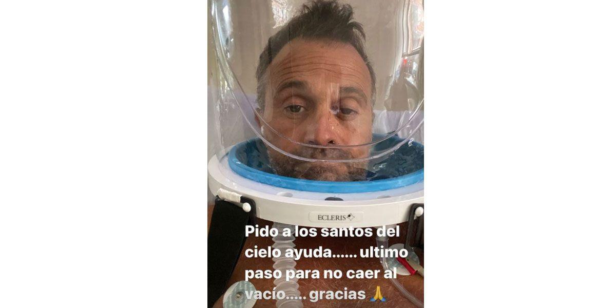 """El mensaje de Sergio Lapegüe desde el hospital: """"Último paso para no caer al vacío"""""""