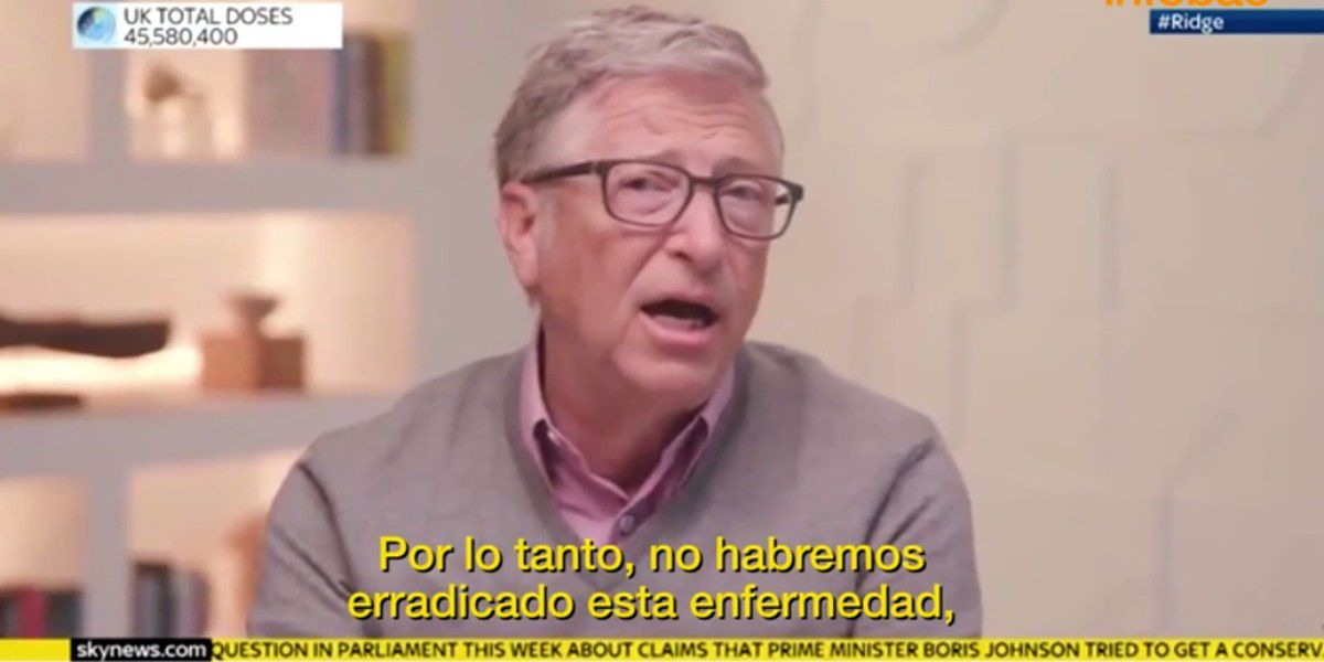 Bill Gates cree que el mundo volverá a la normalidad a finales de 2022