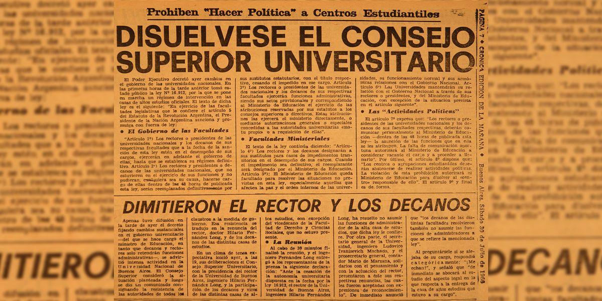 A 55 años de la Noche de los Bastones Largos | La 100