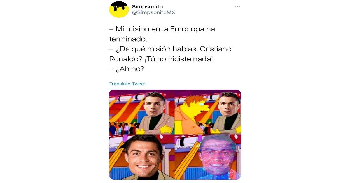 Cristiano Ronaldo quedó eliminado de la Eurocopa y las redes estallaron de memes